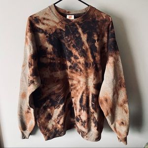 Bleached crewneck sweatshirt
